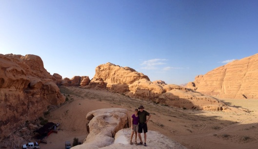 Atop a natural bridge in beautiful Wadi Rum