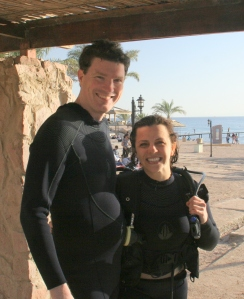 Happy after our first dive together