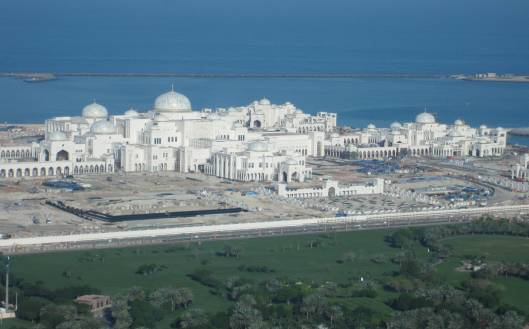 The new Royal Palace in Abu Dhabi, under construction