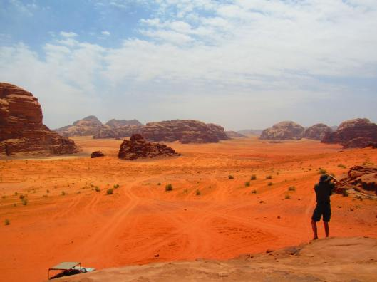 Wadi Rum in vibrant orange