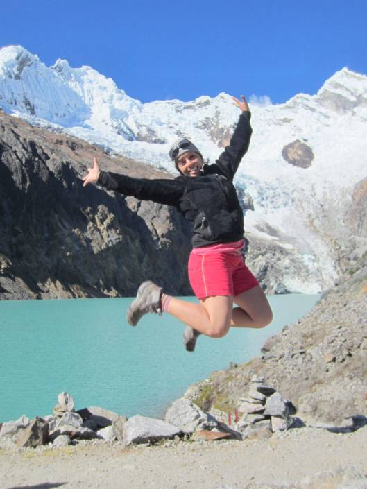 At the high altitude lake: found strength to jump right after being sick