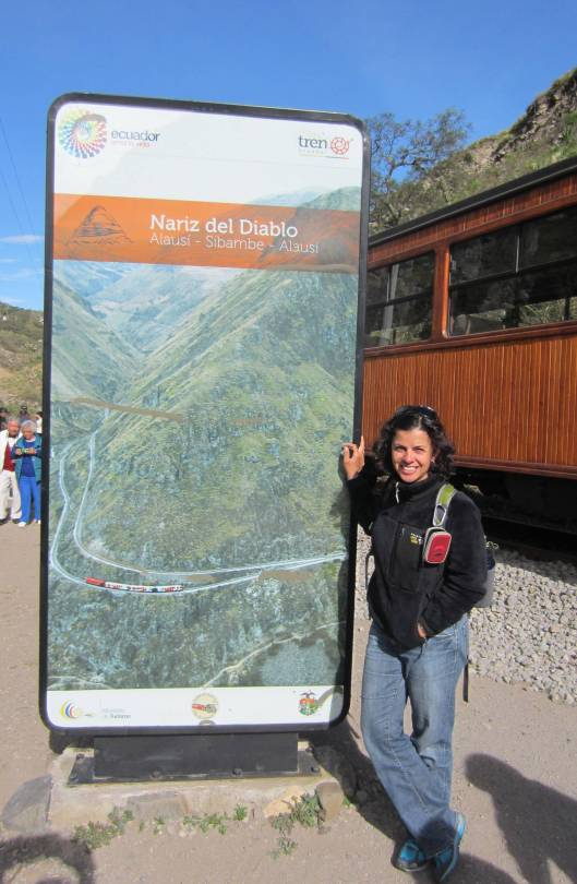 Me, riding the Nariz Del Diablo Train in Alausi