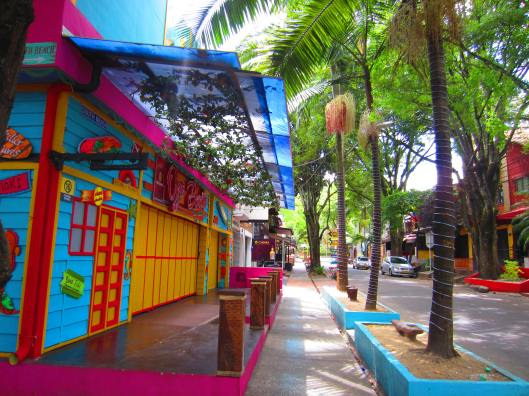 Colorful bars in the Zona Rosa - which I didn't go out in:-(