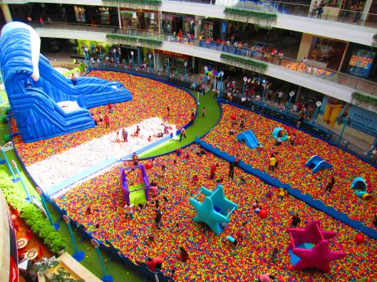 Kiddie play area at the mall