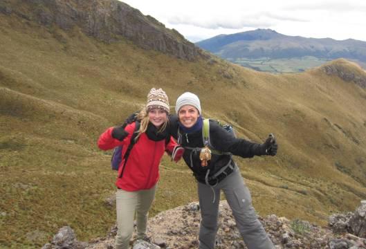Lilian and I climbing