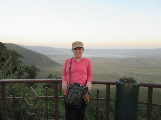 Overlooking the Ngorongoro Crater