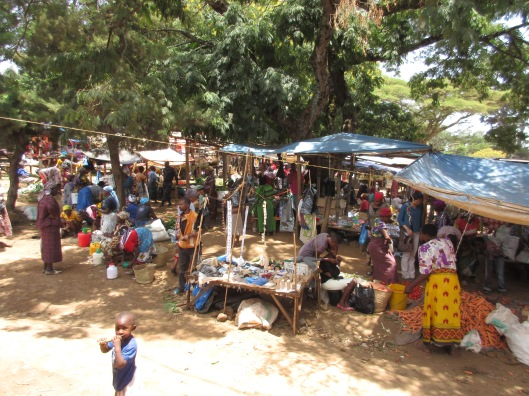 The market in Marangu