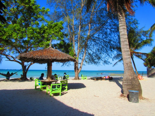 The lovely beach outside of Dar Es Salaam