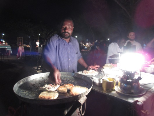At the night market in Zanzibar