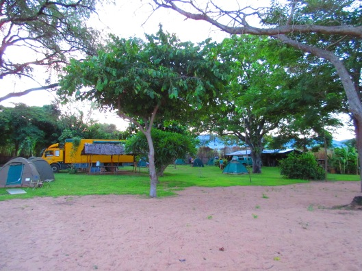 Our campsite in Chitimba