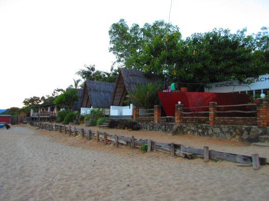 The cabins at Kande Resort