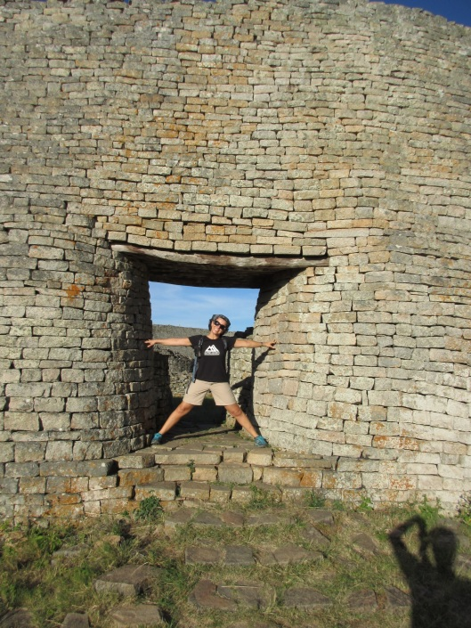 Me at the Great Zimbabwe Ruins