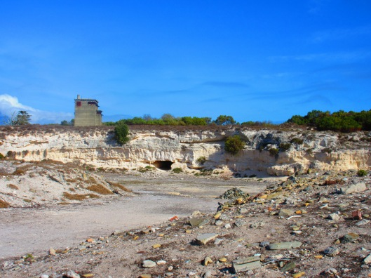 On Robben Island, the quarry where prisoners' worked