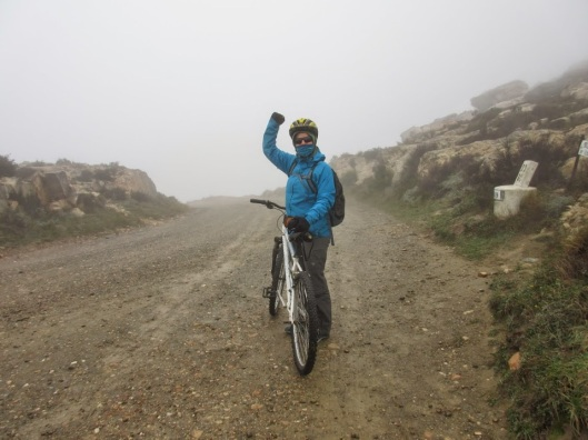 Biking down from Swartberg Pass