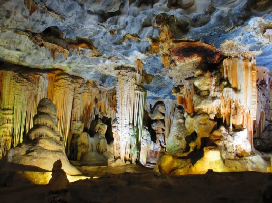 The wonderful stalagmite and stalactite formations