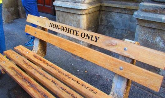 Apartheid-era bench