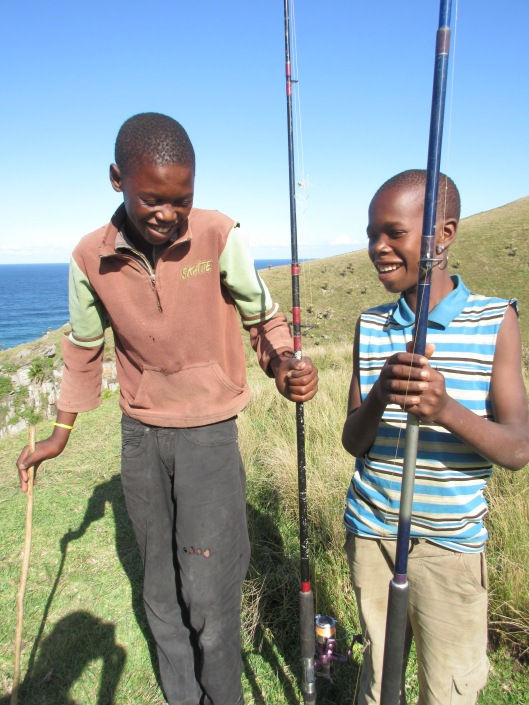 Xhosa boys I met who were fishing on the Wild Coast