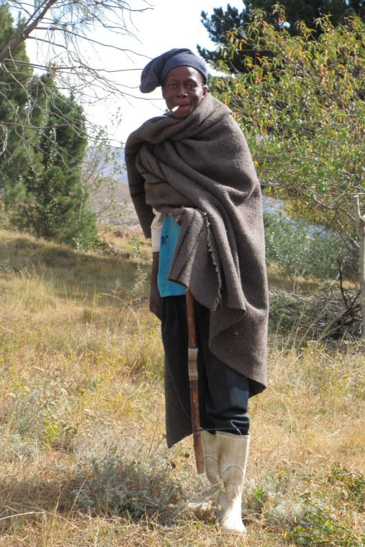 Basotho wearing traditional dress