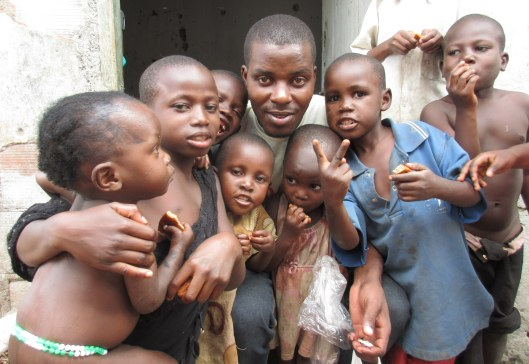 Salim with his friends, the orphans