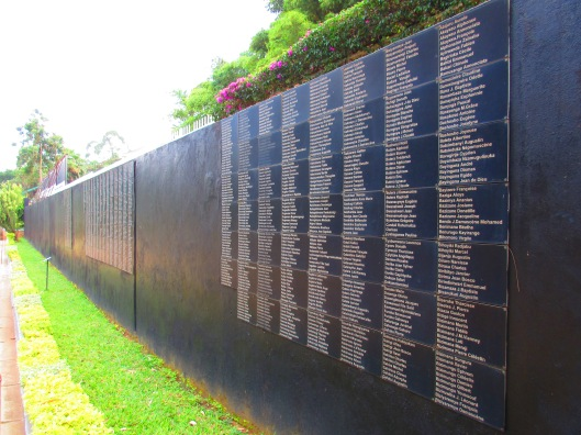 Partial list of those laid to rest here in the mass graves